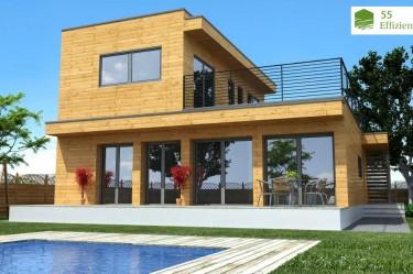 Holzhaus Natura Rosso 150
